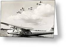1935 China Clipper In Hawaii Greeting Card