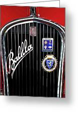 1935 Fiat Balilla Sport Spider Grille Greeting Card