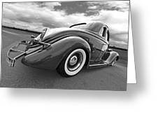 1935 Ford Coupe In Black And White Greeting Card