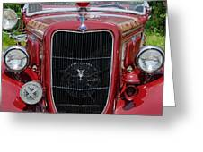 1935 Ford Seagrave Greeting Card