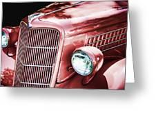 1935 Ford Sedan Hood Greeting Card