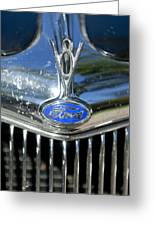 1935 Ford V8 Hood Ornament 2 Greeting Card