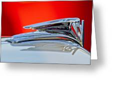 1935 Ford V8 Hood Ornament 3 Greeting Card