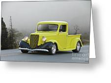 1935 Ford V8 Pickup Greeting Card