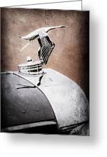 1935 Hispano-suiza J12 Vanvooren Cabriolet Hood Ornament -2425ac Greeting Card