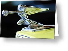 1935 Packard Hood Ornament Greeting Card