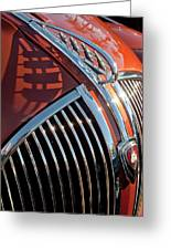 1935 Plymouth Hood Ornament Greeting Card