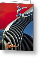 1935 Pontiac Sedan Hood Ornament Greeting Card