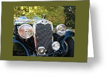 1935 Triumph Southern Cross Front Grill Greeting Card