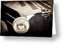 1936 Bugatti Type 57s Corsica Tourer Grille Emblem -1673s Greeting Card
