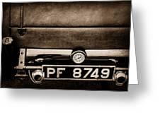 1936 Bugatti Type 57s Corsica Tourer License Plate -0067s Greeting Card