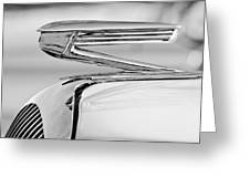 1936 Buick 40 Series Hood Ornament 2 Greeting Card