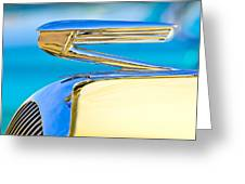 1936 Buick 40 Series Hood Ornament Greeting Card