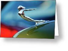 1936 Cadillac Hood Ornament 2 Greeting Card