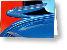 1936 Chevrolet Hood Ornament 2 Greeting Card