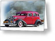1936 Chevrolet Master Deluxe Sedan Greeting Card