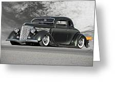 1936 Ford 'bug Crusher' Coupe Greeting Card