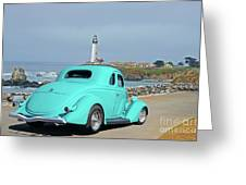 1936 Ford Coupe 'shoreline' 1 Greeting Card