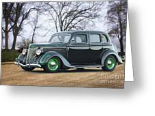 1936 Ford Deluxe Sedan I Greeting Card