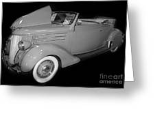 1936 Ford Rumble Seat Cabriolet  Greeting Card