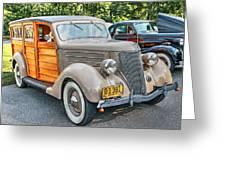 1936 Ford V8 Woody Station Wagon Greeting Card