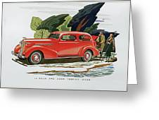 1936 La Salle Two Door Touring Sedan Greeting Card