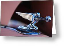 1936 Packard Hood Ornament Greeting Card