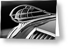 1936 Plymouth Sedan Hood Ornament 2 Greeting Card