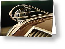 1936 Plymouth Sedan Hood Ornament Greeting Card