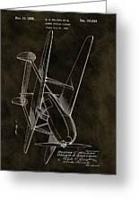 1936 Tandem Motored Biplane Greeting Card