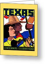 1936 Texas Centennial Poster N.2 Greeting Card