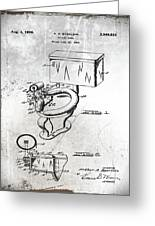 1936 Toilet Bowl Patent Antique Greeting Card