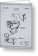 1936 Toilet Bowl Patent Antique Gray Greeting Card