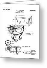 1936 Toilet Bowl Patent Greeting Card