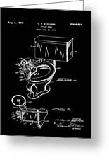 1936 Toilet Bowl Patent Black Greeting Card