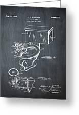 1936 Toilet Bowl Patent Chalk Greeting Card