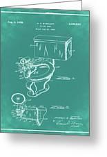 1936 Toilet Bowl Patent Green Greeting Card