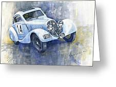 1937 Aero 750 Sport Coupe Greeting Card