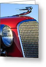 1937 Cadillac V8 Hood Ornament 2 Greeting Card