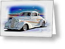 1937 Chevrolet Coupe 'accent Graphics' Greeting Card