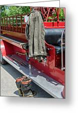 1937  Chevy Fire Engine Greeting Card