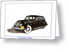 1937 Chrysler Airflow  Greeting Card