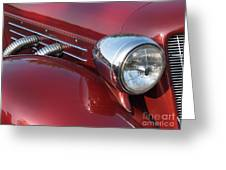 1937 Cord Phaeton In Burgundy Greeting Card