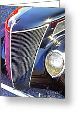 1937 Ford 2 Door Sedan Greeting Card