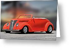 1937 Ford Cabriolet 'old School Vibe II Greeting Card