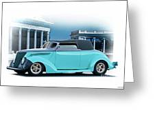 1937 Ford 'classic' Cabriolet Greeting Card