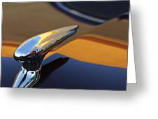 1937 Ford Hood Ornament 3 Greeting Card