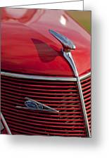 1937 Ford Hood Ornament Greeting Card
