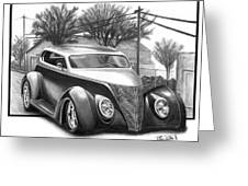 1937 Ford Sedan Greeting Card by Peter Piatt