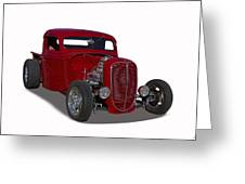 1937 Ford Truck Hot Rod Greeting Card
